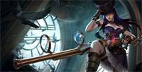 LOL UZI皮城女警凯特琳ADC玩法_S8女警符文天赋出装加点比赛复盘玩法解析