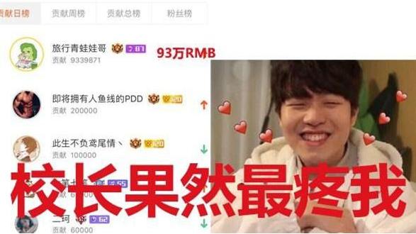 LOL:IG斗鱼首播Rookie热度近1亿,王思聪刷礼90余万,Duke零元垫底!