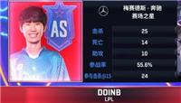 LOL2019全明星无限火力Doinb四杀带队获胜 卡萨丁抢龙太精彩!