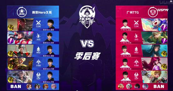 南京Hero久竞4比1战胜广州TTG,杀进总决赛