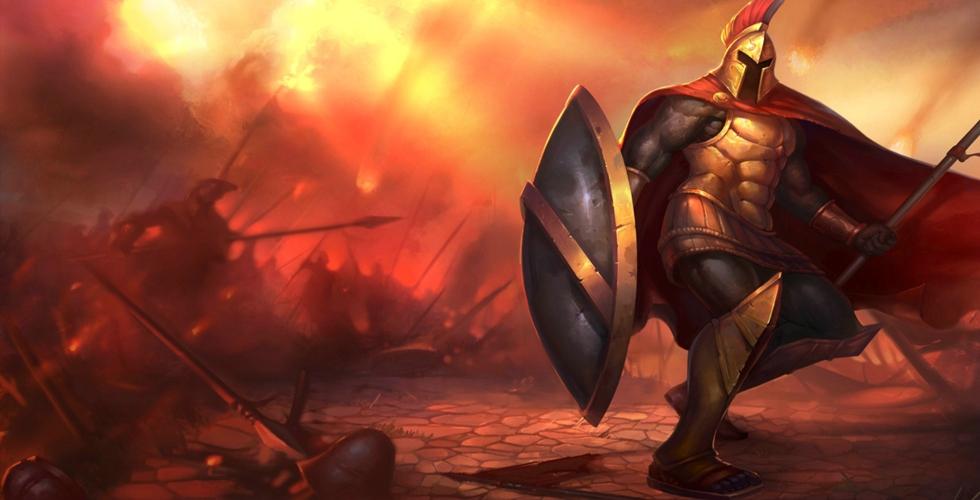 LOL 这里是斯巴达!——战争之王潘森打野符文出装英雄解析